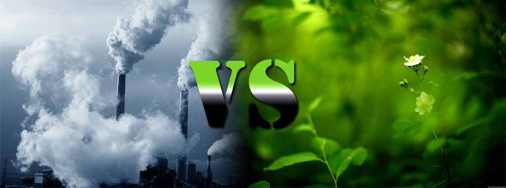 pollution vs green